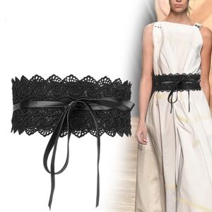 Just In🔥Bowknot Faux Leather Lace Wide Belt